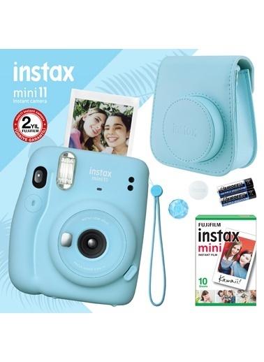 Fujifilm instax mini 11 Mavi Fotoğraf Makinesi ve Hediye Seti 3 Mavi